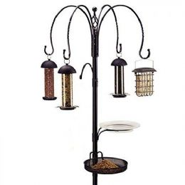 Gardman Garden Complete 4 Way Wild Bird Feeding Feeder Station Feeders Pole Kits